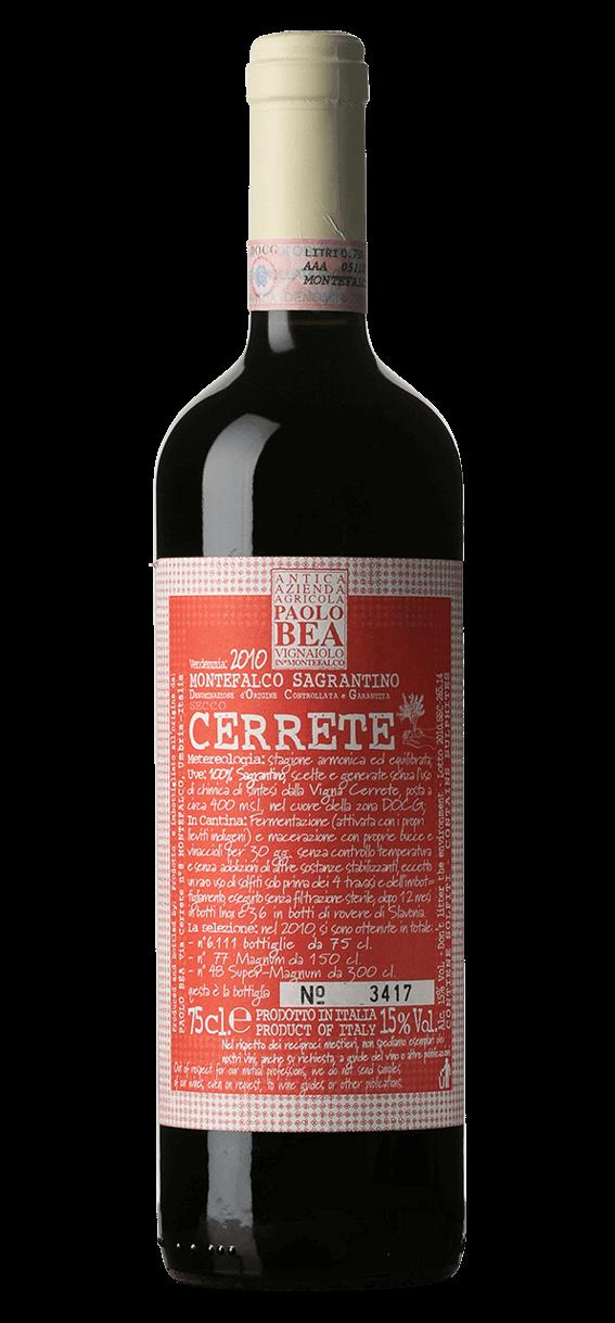 Produktbild för Cerrete Montefalco Sagrantino 2010
